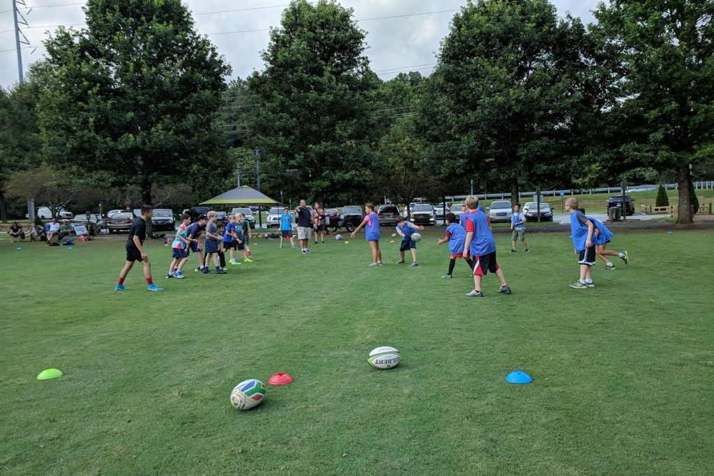 Rugby in the park