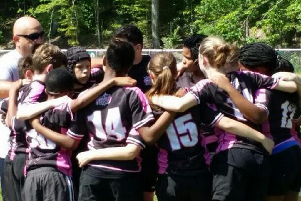 Coed middle school rugby team