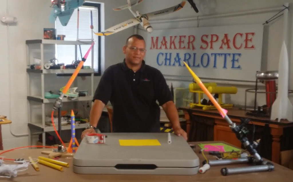 Compressed Air Rockets and Launchers at MakerSpace Charlotte